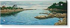 Goose Neck Cove Acrylic Print by Bruce Dumas