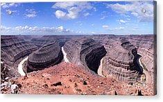 Gooseneck Bends Panorama Acrylic Print