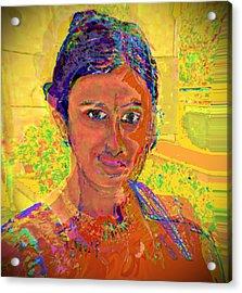 Gopika Acrylic Print by Noredin Morgan