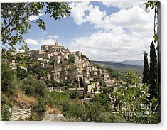 Acrylic Print featuring the photograph Gordes In Provence by Stan and Anne Foster