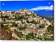 Acrylic Print featuring the photograph Gordes by Olivier Le Queinec