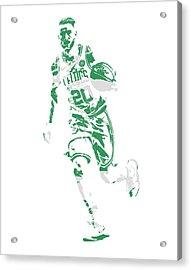 Gordon Hayward Boston Celtics Pixel Art 10 Acrylic Print