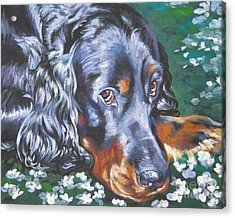 Gordon Setter In Wildflowers Acrylic Print