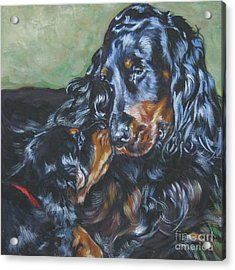 Gordon Setter Mom And Pup Acrylic Print