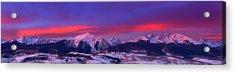 Gore Range Sunrise Acrylic Print by Darren  White
