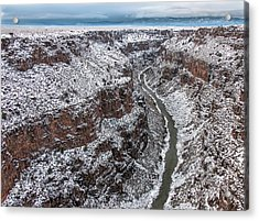 Acrylic Print featuring the photograph Gorge In Snow by Britt Runyon