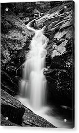 Gorge Waterfall In Black And White Acrylic Print