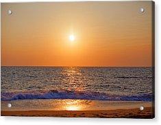 gorgeous sundown over the Indian Ocean Acrylic Print by Regina Koch