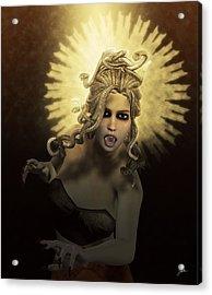 Gorgon Medusa Acrylic Print by Joaquin Abella