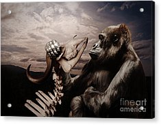 Acrylic Print featuring the photograph Gorilla And Bones by Christine Sponchia