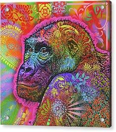 Gorilla Acrylic Print by Dean Russo Art