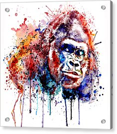 Acrylic Print featuring the mixed media Gorilla by Marian Voicu