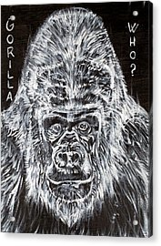 Acrylic Print featuring the painting Gorilla Who? by Fabrizio Cassetta