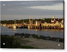Gosman's Dock At Dawn Acrylic Print