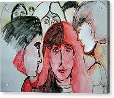 Gossip Acrylic Print by Judith Redman