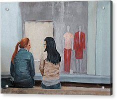 Acrylic Print featuring the painting Gossip by Rachel Hames