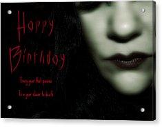Goth Birthday Card Acrylic Print by Lisa Knechtel