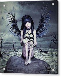 Goth Fairy Acrylic Print
