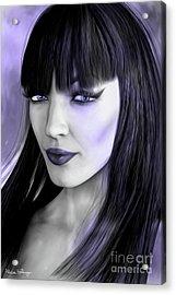 Goth Portrait Purple Acrylic Print