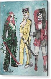 Gotham City Sirens Kill Bill Mashup Acrylic Print