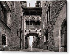 Gothic Barcelona Acrylic Print