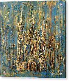 Acrylic Print featuring the painting Gothic Church  by Arturas Slapsys