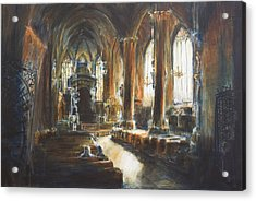Gothic Church Acrylic Print by Nik Helbig