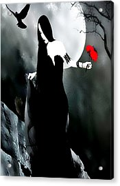 Gothic Love Acrylic Print by Tbone Oliver