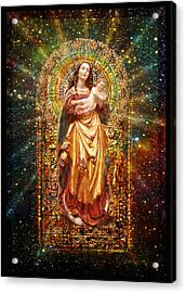 Gothic Madonna And The Child Acrylic Print by Ananda Vdovic