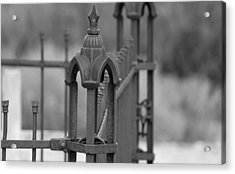 Gothic Ornamental Fence In Boothill Acrylic Print