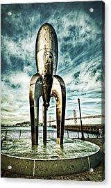 Gothic Rocketship Ray Gun Acrylic Print