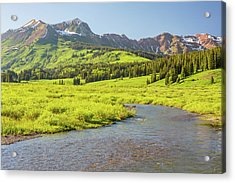 Gothic Valley - Early Evening Acrylic Print by Eric Glaser