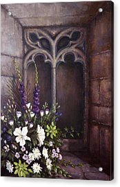 Gothic Wedding Bouquet Acrylic Print by Sean Conlon