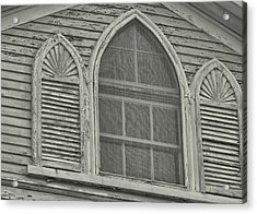 Nantucket Gothic Window  Acrylic Print by JAMART Photography