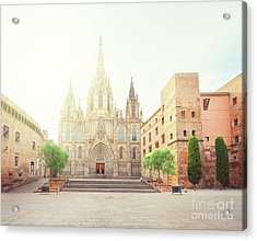 Gotic Cathedral  Of Barcelona Acrylic Print