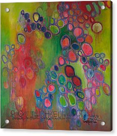 Acrylic Print featuring the painting Gottlichkeit by Laurie Maves ART