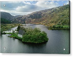 Gougane Barra From Above Acrylic Print by Michael Meade