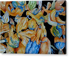 Gourds Galore Acrylic Print by Rosie Brown