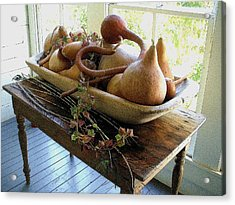 Gourds In Bowl Acrylic Print