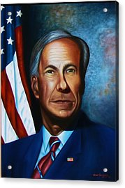 Gov Greg Abbott Acrylic Print by Gene Gregory