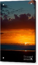 Gower Sundown Acrylic Print
