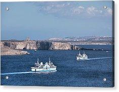 Gozo Ferries - Malta Acrylic Print by Joana Kruse