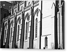 Grace Cathedral Acrylic Print by Larry Butterworth