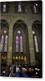 Grace Cathedral Stained Windows Acrylic Print