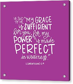 Grace Is Sufficient Acrylic Print