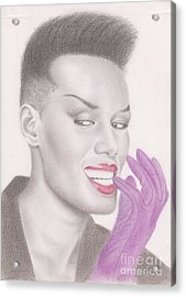 Grace Jones Acrylic Print by Eliza Lo