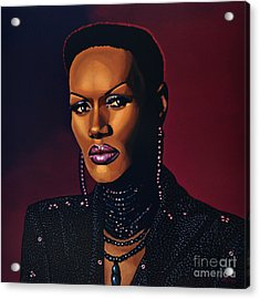 Grace Jones Acrylic Print by Paul Meijering