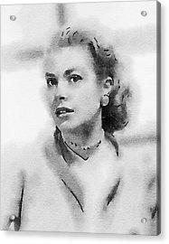 Grace Kelly By John Springfield Acrylic Print by John Springfield
