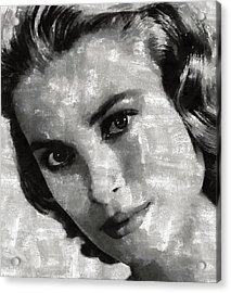 Grace Kelly Acrylic Print by Mary Bassett