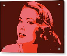 Grace Kelly Pop Art Acrylic Print